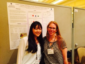 Veronica Kang and her mentor Sara Jane Webb at IMFAR in May, 2015
